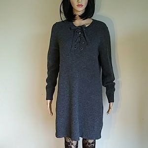 Madewell dark gray Merino wool dress